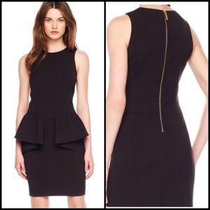 Michael Kors Peplum Dress With Exposed Back Zip